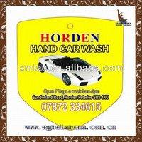 yellow promotional decorative hanging natural car deodorant for car wash shop