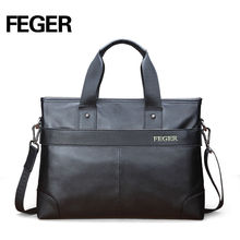 Modern design portable premium quality trend cow leather business bag