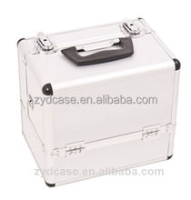 Wholesale flat makep jewelry case beauty vanity cosmetic case