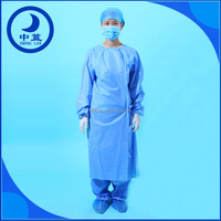 Operation disposable sterilized clothes medical surgical gown with sleeve white surgical gown with cap
