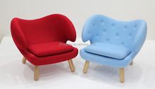 Modern fabric peclian chair/Finn Juhl Pelican chair /poet sofa JH1100