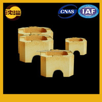 cylindrical clay brick manufacturer fire resistant low porosity fireproof brick