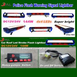 DC12V 24V 144W emergenc warning signal led light bar, car roof top led light bar