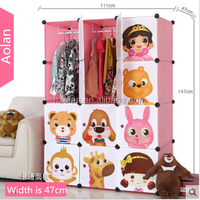 2015 new design hot sexy plastic Magic wardrobe Storage folding portable wardrobe/Pink 12 cube clothes display