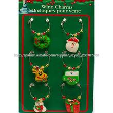 Lo suficientemente hermoso para usar como decoración vacaciones encantos de vidrio de vino