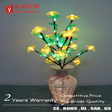 Burma new design LED acrylic flower light vase lamp weaved vase light for hotel home restaurant decoration