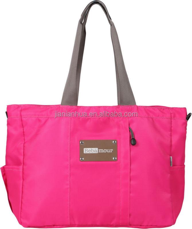 New fashion designer diaper bags handbags hand bag soft nylon handy
