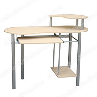 MDF computer table with metal frame