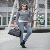 100% cashmere cardigan zipper for woman