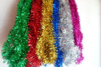 Green Leaves with red berries Hanging Holiday christmas Tinsel Garland