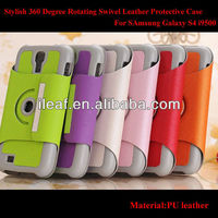 Stylish 360 Degree Rotating Swivel Smart Leather Protective Case Stand For Samsung Galaxy S4 i9500