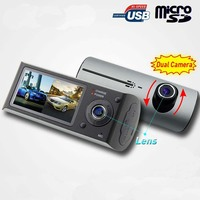 Android x3000 gps dual cameras car black box with Parking Camera with Dashcam, 5 Inch Screen, GPS, wifi