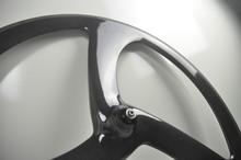 3K glossy or matt road bike 3 spoke carbon wheel