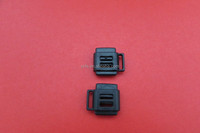 factory wholesale 2015 SK072 8mm plastic flat cord lock buckle with ear for 2 ropes