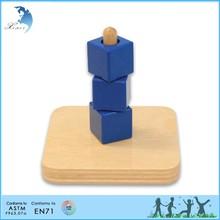 Montessori Teaching Materials,Chinese Montessori Materials,Cubes on a Vertical Dowel