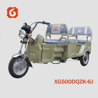 3 wheel electric passanger tricycle vehicle