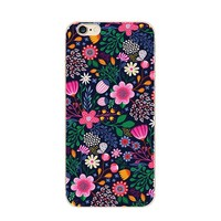 Personalized Flower Painting TPU Cell Phone Case for Iphone 6 Mobile Phone