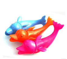 Promotion vinyl dolphins swimming little toys