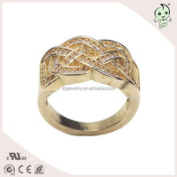 Popular Real Gold Plating Pure Silver gemel Finger Ring