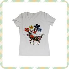 woman fashion beaded t-shirt factory