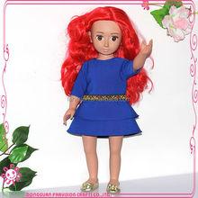 "handmade vinyl dolls toys for girls fabric dolls in 18"" french style"