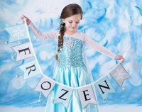 Новая розничная 2-8 лет, принцесса Туту девочек замороженных платье детский мультфильм летом платье девушка платье милый одежду дети костюм