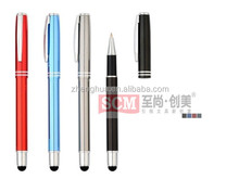 Conductive touch stylus ballpoint pen,high quality metal ballpen