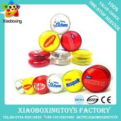 OEM printed logo Promotional toys plastic yoyo ball