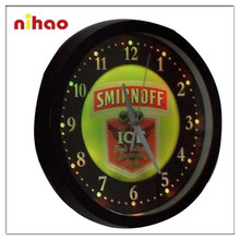 2015 Beautiful Fashion Led Wall Clock with Customized Logo for Sale