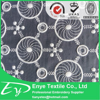 2015 hot sale 100% polyester plain embroidery fabric