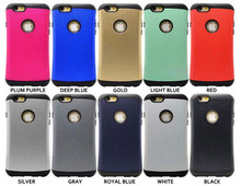 TPU+PC Armor Hybird Hard Case for iphone 6 cover slim hard