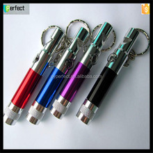 Multi-function LED keychain flashlight with compass and whistle