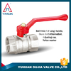 TMOK 1/2 inch brass ball valve with long T handles thread forged ball valve and CE approved and threa material Hpb57-3