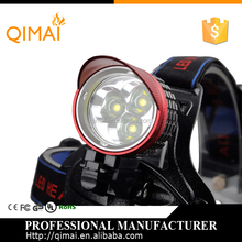 Waterproof 3 t6 Strong Zoomable LED Headlight Flashlight 3 Modes Rechargeable Headlamp for Hunting and Camp