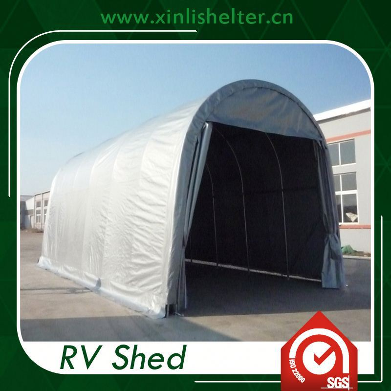 Portable Boat Covers : Pitched roof portable car garage shelter boat rv