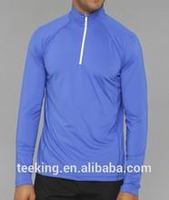 men's moisture quater zipper wicking running jersey top