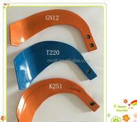 agriculture parts many size tiller blade GN12 T220 K251