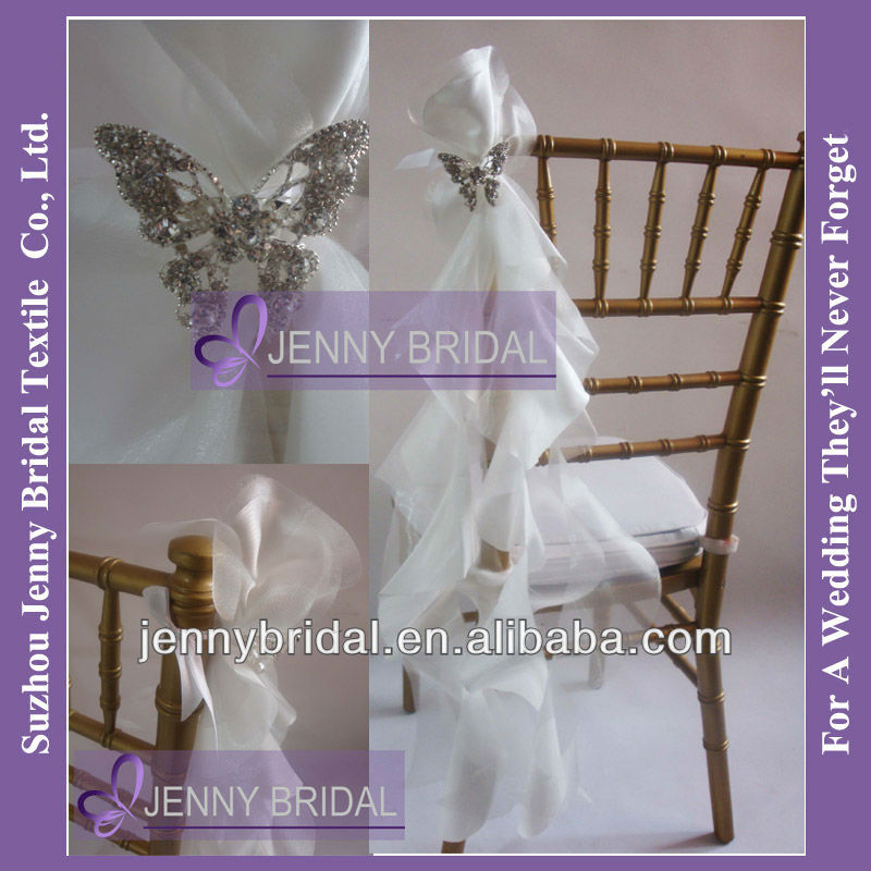 ruffle chair sash wedding