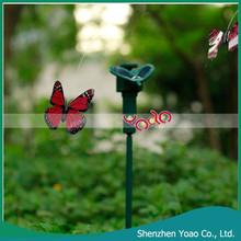 Solar Powered Flying vástago oscilante mariposa de plástico jardín estacas venta al por mayor