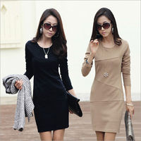 D92538T 2014 AUTUMN EUROPEAN NEW DESIGN FASHION OFFICE LADIES DRESS,WOVEN WOMEN DRESS