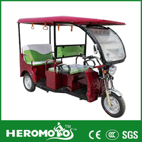 India 48V 1000W Electric Tricycle/Electric Auto Rickshaw/Battery Powered 3 Wheeler For Adults