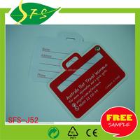High quality PVC luggage bag tag