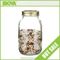 1000ml unique clear cookie jars with screw cap/storage jars