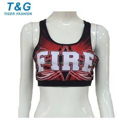 Digital printing sexy girls cheering bra
