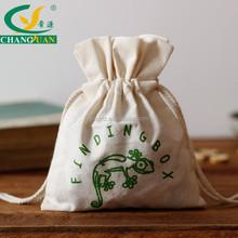 custom cotton cloth fabric drawstring jewelry bag