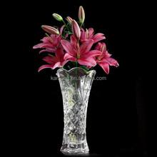 clear crystal rose flower vase for decoration
