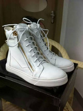 Ultra White Lamb Leather High Ankle Safety Shoes Winter Warm Footwear Global Market Designer Shoes Men