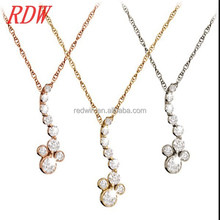 RDW Necklace Note Necklaces Jewelry For Silver/Gold/Rose Gold Diamond Musical Note Necklace Cute Music Note Necklace