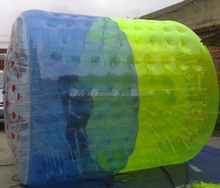 Double color inflatable Water Walking Ball, water walking roller,human roller ball