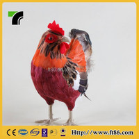 Decorative handmade gifts simulated plush toy chicken
